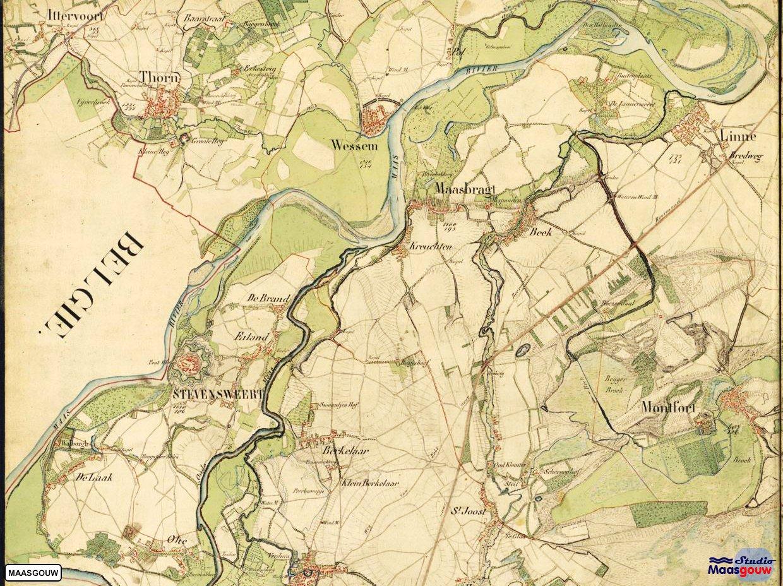 Oudekaart Maasgouw
